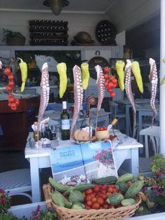 Firostefani, Santorini  & Greek food