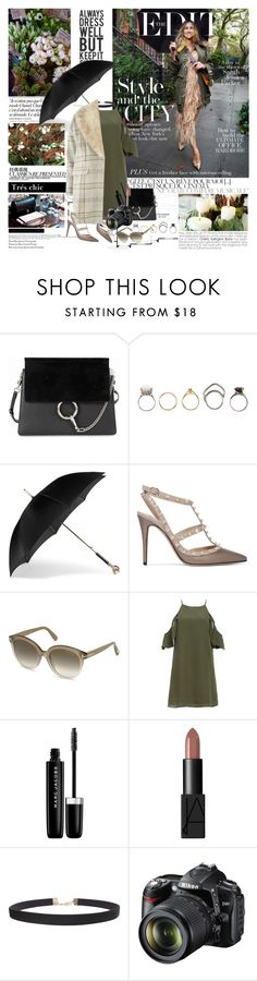 """""""SMARTBUYGLASSES contest"""" by mars ❤ liked on Polyvore featuring Chloé, Iosselliani, Chanel, Alexander McQueen, Valentino, Tom Ford, DailyLook, Marc Jacobs, NARS Cosmetics and Humble Chic"""