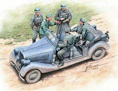 Las Cosicas del Panzer — Control de la Feldgendarmerie