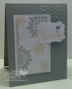Christmas in August Stamp Camp Card 1, Stampin' Up! Festive Flurry by Debbie Henderson, Debbie's Designs.