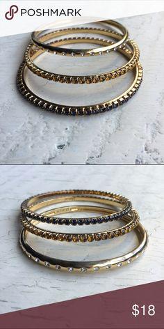 J.Crew beaded bangles 🌷host pick🎊 3 bangles J. Crew Jewelry Bracelets