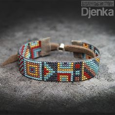 Bransoletka etniczna - beading - Kawaja - Djenka
