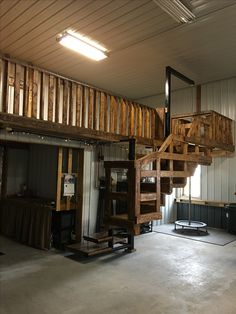 Our Barn Balcony/Loft - Complete with fire pole for the grandkids :-)