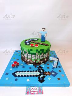 Mine craft by Arty Cakes  by Arty cakes