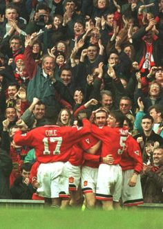 Cole, Cantona, Sharpe Manchester United Images, Manchester United Football, Roy Keane, Eric Cantona, Sir Alex Ferguson, Premier League Champions, European Cup, Europa League, Man United