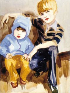 Elizabeth Peyton - Liam and Noel - Contemporary Art Elizabeth Peyton, Andy Warhol, Figure Painting, Painting & Drawing, Baby Painting, Art Des Gens, Liam And Noel, Boy Illustration, Saatchi Gallery