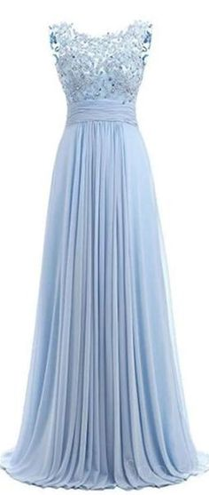 Light Blue Lace See Through Chiffon Long Evening Prom Dresses, 17529 – SposaDresses Lace Prom Gown, Dusty Blue Bridesmaid Dresses, Chiffon Dresses, Prom Dresses Online, Cheap Prom Dresses, Blue Lace, Light Blue, Evening Cocktail, Cocktail Dresses