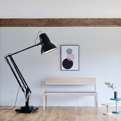 Buy the Original 1227 Giant Floor Lamp by Anglepoise from our designer Lighting collection at Chaplins - Showcasing the very best in modern design. Roald Dahl, Bauhaus, Anglepoise Lamp, Tall Floor Lamps, Industrial Floor Lamps, Industrial Table, Industrial Interiors, Design Bestseller, Task Lamps