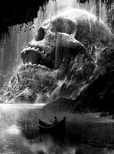 skull Source by hanszaglauer Dark Fantasy Art, Fantasy Kunst, Arte Horror, Horror Art, Art Mort, Pirate Skull Tattoos, Reaper Tattoo, Death Art, Totenkopf Tattoos