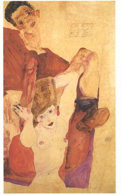 Egon Schiele, Die rote Hostie, 1911