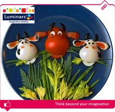 Make sure your children eat the greens on their plates using some imaginative, crafty skills! Are you ready for the challenge, Moms? #Luminarc #French #Tableware #Green #Wednesday