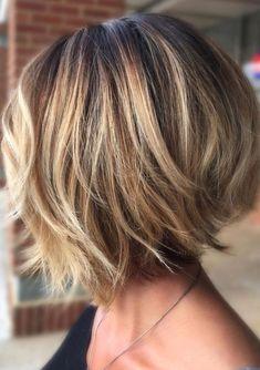 Bob Haircuts For Women, Short Bob Haircuts, Short Hairstyles For Women, Hairstyle Short, Hair Updo, Layered Bob Hairstyles, Hairstyles Haircuts, Hairstyles Videos, Office Hairstyles