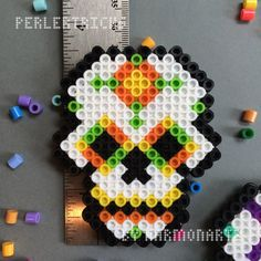 Day of the Dead Perler Bead Magnet hama beads by PerlerTricks