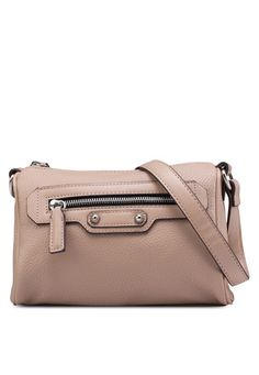 MANGO Zipped Pebbled Bag 暗紋拉鏈手袋
