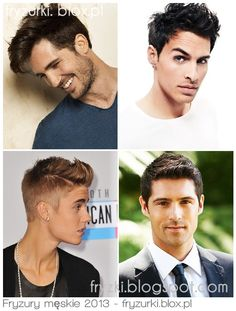 Modne fryzury męskie 2013 / Men hairstyles Fryzury na lato 2013, 2014 / Summet hairstyles click on the source and visit blog with links to all of this hairstyles!