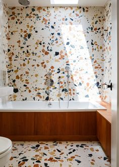 Removable Water-Activated Wallpaper Terrazzo Stone Rock Mineral Flooring Terra