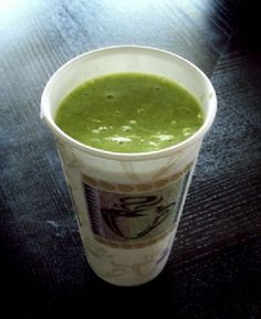Ingredients up to 2.5 cups spinach leaves 1 medium banana 7 good sized strawberries up to 3/4 cup orange juice
