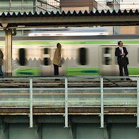Waiting for the express at Tokyo's Akihabara station.