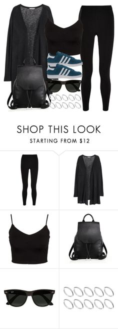 """""""Style #10484"""" by vany-alvarado ❤ liked on Polyvore featuring T By Alexander Wang, H&M, Glamorous, rag & bone, Ray-Ban, ASOS and adidas Originals"""