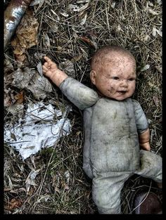 I don't know what category to pin this under, but this abandoned doll sure looks like it laid down the boogy and played that funky music 'til it died.