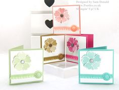 Pootles Stampin Up UK Pansy Punch Flower Shop In Colours