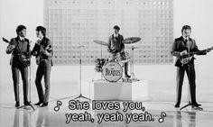 gif the beatles sixties Paul McCartney john lennon ringo starr george harrison She Loves You Paul Mccartney, John Lennon, Classic Rock Lyrics, Screaming Girl, Richard Lester, Love You Gif, A Hard Days Night, The Ed Sullivan Show, She Loves You