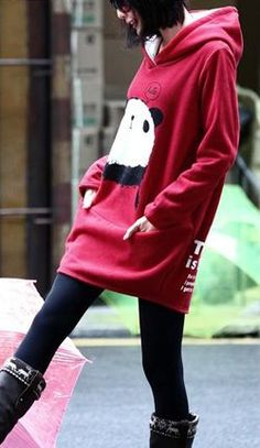 644f637fe0109 oversized hoodies Love the panda  D