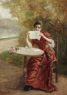 The St. Valentine Letter byGeorges Pierre Marie van den Bos (Belgian, 1853-1911).