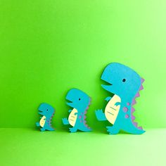 T-Rex DINOSAUR Die cuts CHOOSE your SIZE Dino cutouts Birthday Party decorations diecuts party favours favors cupcake toppers cake topper