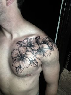 Black and grey Hibiscus