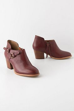 Two-Buckle Booties #anthropologie. They come in forest green too!