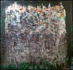 """Palimpseste"" Acrylique sur toile lin 80 x 80 - H2A 04/2014 Abstract Paintings, City Photo, Toile, Artist, Paint, Abstract Drawings"
