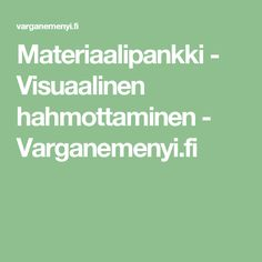 Materiaalipankki - Visuaalinen hahmottaminen - Varganemenyi.fi Preschool, Teaching, Education, Maths, Kid Garden, Nursery Rhymes, Learning, Educational Illustrations, Kindergarten