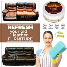 Cyhulu 2019 New Fashion Multifunctional Leather Furniture Refurbishing Metal Cleaning Cream Repair Home Cleaner Tools Cream Deep Cleaning Tips, House Cleaning Tips, Spring Cleaning, Cleaning Hacks, Car Cleaning, Leather Repair, Leather Dye, Clean Baking Pans, Cleaning Painted Walls