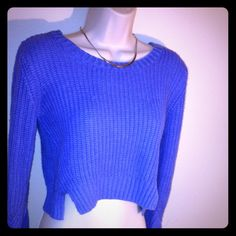 Violet crop top sweater Use the offer button or bundle to save ⚠️ Sweaters