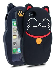 Take a look at this Black Fortune Cat Case for iPhone 4/4S by Barnimals on #zulily today!