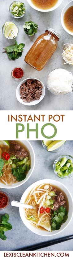 Instant Pot Pho {Paleo-friendly, Whole30 approved, dairy-free, gluten-free} | Lexi's Clean Kitchen