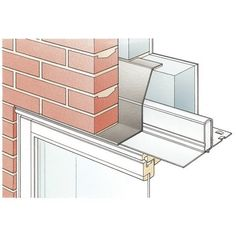 Steel Lintel @ openings for Cavity-Wall Concrete Wall, Brick Wall, Masonry Construction, Building Management, Window Detail, Masonry Wall, Steel Beams, Windows And Doors, Architecture Details