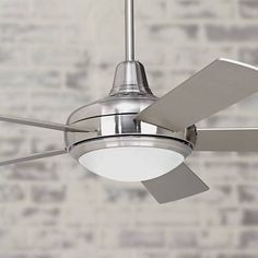 104 best modern ceiling fans images on pinterest ceiling fans with 52 casa compass brushed nickel ceiling fan aloadofball Images