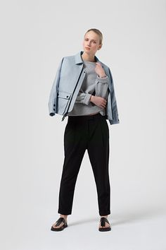 The Jackets You'll Want To Wear All Spring #refinery29  http://www.refinery29.com/the-arrivals-spring-2015-jackets#slide-5  Toss this over a feminine blouse for a cool, sporty vibe.