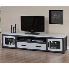 Heritage Cloudy White Entertainment Center