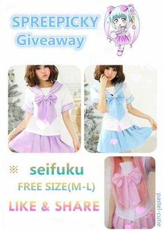 Join our great giveaway on facebook of SpreePicky! #giveaway #seifuku #sailoruniform #spreepicky #storenvy #freestuff #free #freeshipping #spreepicky #SpreepickyGiveaway