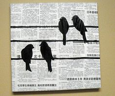 I'm gonna do this...but with old sheet music instead of newsprint. :)