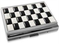 Art Deco Checker Board Cigarette Case (For King Size Only)