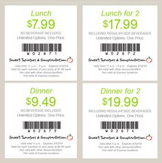 For Old Country Buffet we currently have 0 coupons and 0 deals. Our users can save with our coupons on average about $ Todays best offer is. If you can't find a coupon or a deal for you product then sign up for alerts and you will get updates on every new coupon added for Old Country Buffet.