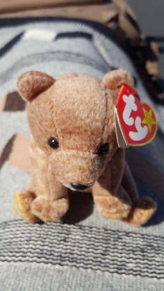 ce90bcb2945 Ty Beanie Babies Pecan The Brown Bear