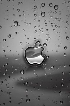 apple rain wallpaper