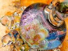 New Birth. Silverglass, dichroic. Boroglass. Private collection Soulbeads. Pendant. Lampwork. Beadmaking.