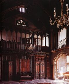 Scarisbrick Hall-designed by Augustus Pugin for an ancient Catholic recusant family with a claim to nobility going back to King Stephen.-----Southport, Cumbria--[definition 'recusant': refusal to submit to authority and/or regulations]