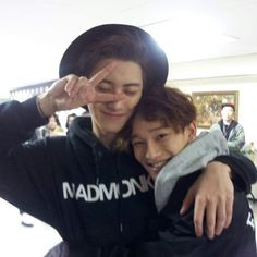 Not posting anymore pics of Tao because he left but I had to post this one! JongDae looks soo adorable and happy!